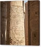 Karnak Pillar Carvings Canvas Print