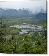 Karst Landscape Of Guangxi Canvas Print