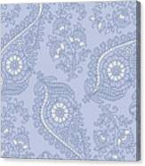 Kasbah Blue Paisley II Canvas Print