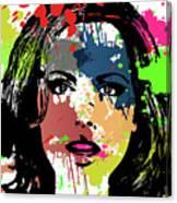 Kate Beckinsale Pop Art Canvas Print