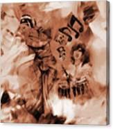 Kathak Dance On Tabla  Canvas Print