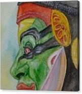 Kathakali Dancer Canvas Print