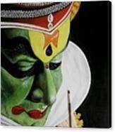 kATHAKALI PAINTING REALISTIC Canvas Print