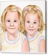 Katy And Kym Canvas Print