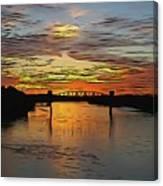 Katy Bridge Watercolor Effect Canvas Print