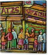 Katzs Delicatessan New York Canvas Print