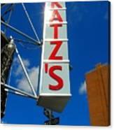 Katz's Ny Deli Sign Canvas Print