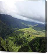 Kauai By Helicopter Canvas Print