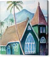 Kauai Church Canvas Print