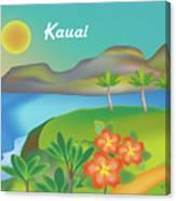 Kauai Hawaii Horizontal Scene Canvas Print