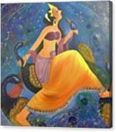 Kaushiki Dance With Peacock Canvas Print