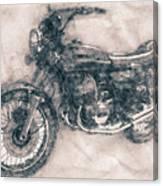 Kawasaki Triple - Kawasaki Motorcycles - 1968 - Motorcycle Poster - Automotive Art Canvas Print