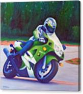 Kawasaki Zx7 - In The Groove  Canvas Print