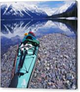 Kayak Ashore Canvas Print