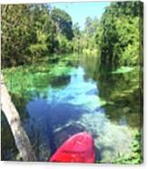 Kayak On Weeki Wachee Springs Canvas Print