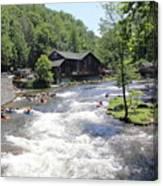 Kayak Practice Waters Canvas Print