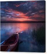 Kayak Sunrise Canvas Print