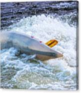 Kayaker Goes Over In Pipeline Rapids 5965ct Canvas Print