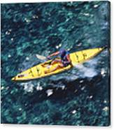 Kayaker Over Coral Reef Canvas Print