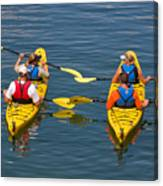 Kayakers In Bar Harbor Maine Canvas Print