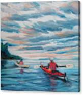 Kayakers Canvas Print