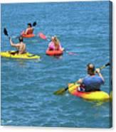 Kayaking Friends Canvas Print