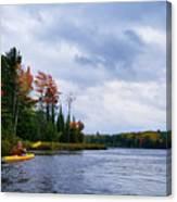 Kayaking In Autumn Canvas Print