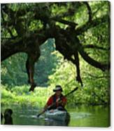 Kayaking In Dismal Swamp Canvas Print