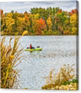 Kayaking In Fall Canvas Print