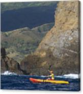 Kayaking In Molokai Canvas Print