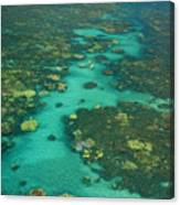 Kayaking Through Beautiful Coral Canvas Print