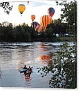 Kayaks And Balloons Canvas Print