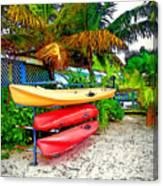 Kayaks In Paradise Canvas Print