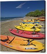 Kayas On Beach Canvas Print