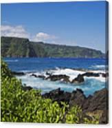 Keanae Peninsula, View Canvas Print