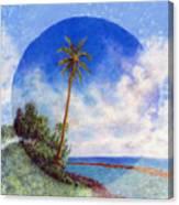 Ke'e Palm Canvas Print
