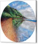 Ke'e Tondo Canvas Print