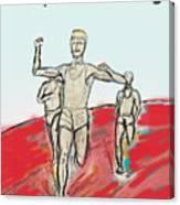 Keep On Running, Athletes Canvas Print