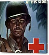 Keep Your Red Cross At His Side Canvas Print