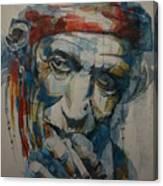 Keith Richards Art Canvas Print