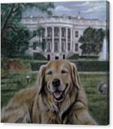Kelli On The White House Lawn Canvas Print