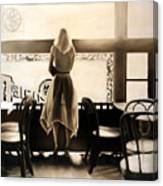 Kelly In The Window Canvas Print