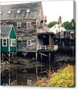 Kennebunkport At Low Tide Canvas Print