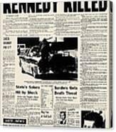 Kennedy Assassination, 1963 Canvas Print