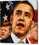 Kennedy-clinton-obama Canvas Print