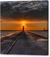 Kenosha Lighthouse Beacon Canvas Print