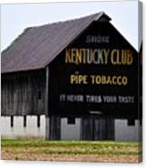 Kentucky Club Pipe Tobacco Barn Canvas Print