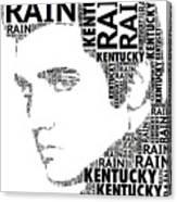 Kentucky Rain Elvis Wordart Canvas Print