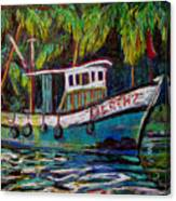 Kerala Fishing Boat  Canvas Print