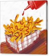 Ketchup And Fries Canvas Print